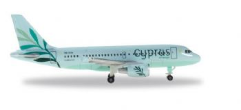Airbus A319 Cyprus Airways Herpa Diecast Collectors Model Scale 1:500 531757 E